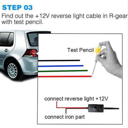 how- to install backup camera step three