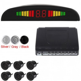 LIGHTHEART 2 Front & 4 Rear Car Parking Sensor Parktronic Display Auto Reverse Assistance Radar Monitor Parking System