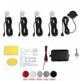 Car Parking Assistant System Waterproof With 4 Parking Sensors Buzzer Voice Alarm Radar Sensor