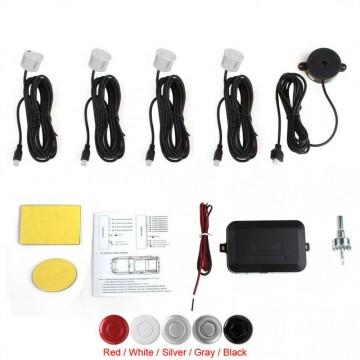 Car Parking Assistant System Waterproof With 4 Parking Sensors Buzzer Voice Alarm Radar Sensor