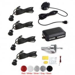 4 Sensors Buzzer Alarm Car Parking Sensor System Reverse Radar With Audible Alarm / Waterproof
