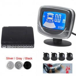 Light heart Weatherproof Dual CPU Sytem LCD Car Auto Parking Sensor Alarm System with Display Monitor - 5 Optional Colors