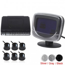 Weatherproof Beep Alert  Car Parking Sensor System With 6 Radar Sensors and LCD Display For Reverse Back up