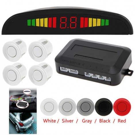 Light Heart Car Auto Led Parking Sensor Parktronic Display 4 Sensors Reverse Backup Assistance Radar Detector Monitor System
