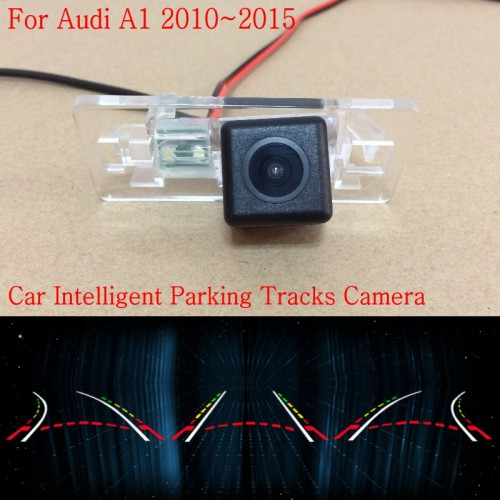 Car Intelligent Parking Tracks Camera FOR Audi A1 2010~2015 / Back up Reverse Camera / Rear View Camera / HD CCD Night Vision