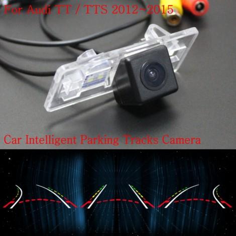 Car Intelligent Parking Tracks Camera FOR Audi TT / TTS 2012~2015 / Back up Reverse Camera / Rear View Camera / HD CCD