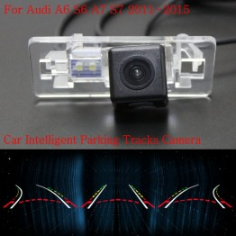 Car Intelligent Parking Tracks Camera FOR Audi A6 S6 A7 S7 2011~2015 / Back up Reverse Camera / Rear View Camera / HD CCD
