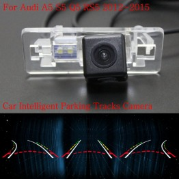 Car Intelligent Parking Tracks Camera FOR Audi A5 S5 Q5 RS5 2012~2015 / Back up Reverse Camera / Rear View Camera / HD CCD