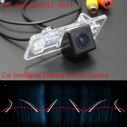 Car Intelligent Parking Tracks Camera FOR Audi Q3 2012~2014 / Back up Reverse Camera / Rear View Camera / HD CCD