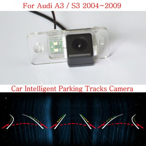 Car Intelligent Parking Tracks Camera FOR Audi A3 / S3 2004~2009 / HD CCD Night Vision Back up Reverse Rear View Camera