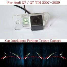 Car Intelligent Parking Tracks Camera FOR Audi Q7 / Q7 TDI / HD CCD Night Vision Back up Reverse Rear View Camera