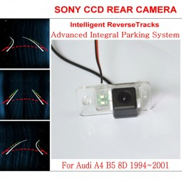Car Intelligent Parking Tracks Camera FOR Audi A4 B5 8D 1994~2001 HD CCD Night Vision Reverse Camera / Rear View Camera