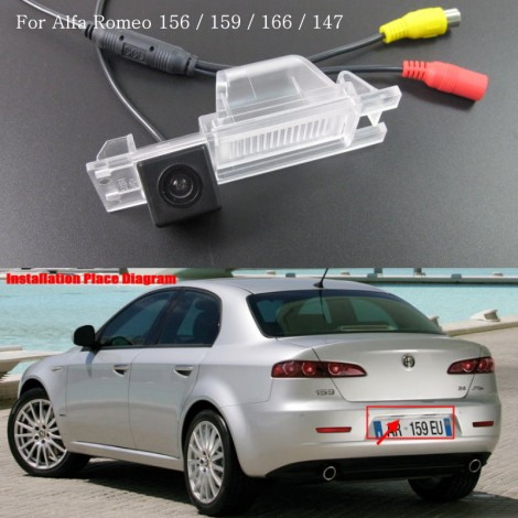 Reverse Camera For FOR Alfa Romeo 159 / Car Rear View Camera / HD CCD Color NTST or PAL / For RCA with Parking Lines