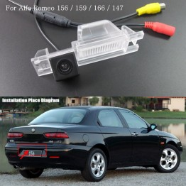 Car Rear Camera FOR Alfa Romeo 156 / Reversing Park Camera / High Definition / License Plate Light Installation