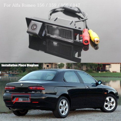 Car Camera FOR Alfa Romeo 156 / Rear View Back Up Camera / High Quality Car Parkig Camera / HD CCD With RCA Reverse Camera
