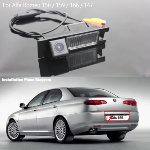 FOR Alfa Romeo 166 / Back up Reverse Camera / Rear View Camera / Car Reversing Parking Camera / Water-Proof HD CCD Night Vision