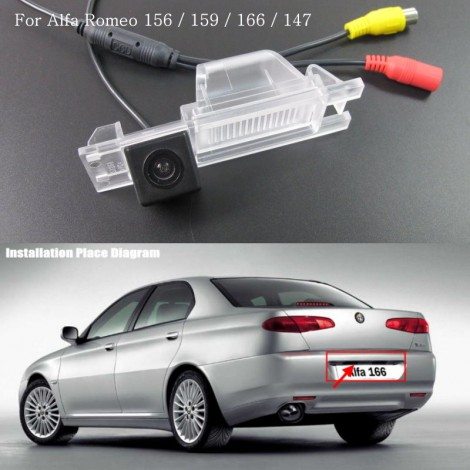 Car Rear View Camera FOR Alfa Romeo 166 / HD Back Up Reverse Camera / License Plate Lamp Plug & Play / Parking Camera