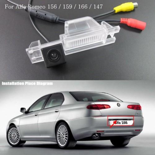 Car Rear View Camera FOR Alfa Romeo 166 / HD Back Up Reverse Camera / License Plate Lamp Plug & Play / Parking Camera