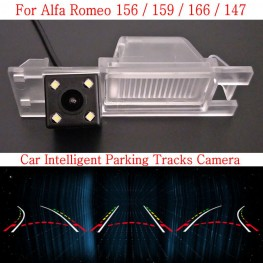 Car Intelligent Parking Tracks Camera FOR Alfa Romeo 156 / 159 / 166 / 147 HD Back up Reverse Camera / Rear View Camera