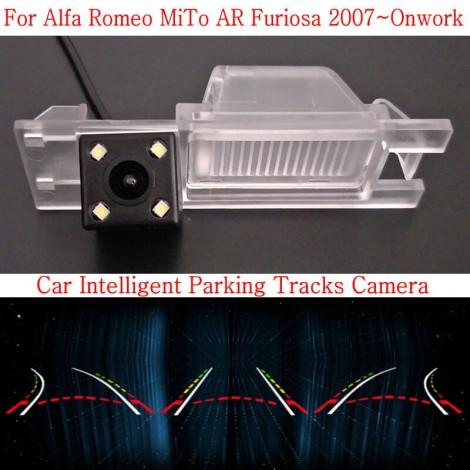 Car Intelligent Parking Tracks Camera FOR Alfa Romeo MiTo AR Furiosa 2007~Onwork / HD Back up Reverse Camera / Rear View Camera