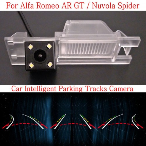 Car Intelligent Parking Tracks Camera FOR Alfa Romeo AR GT / Nuvola Spider 2003~ HD Back up Reverse Camera / Rear View Camera