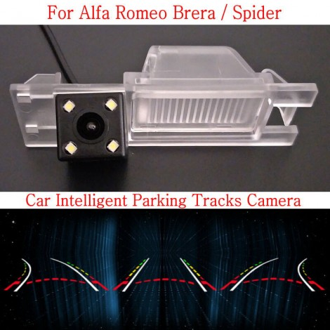 Car Intelligent Parking Tracks Camera FOR Alfa Romeo Brera / Spider / HD Back up Reverse Camera / Rear View Camera