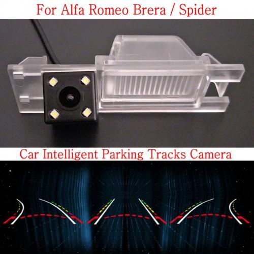 Car Intelligent Parking Tracks Camera FOR Alfa Romeo Brera / Spider / HD Back up Reverse Camera / Rear View Camera