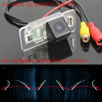 Car Intelligent Parking Tracks Camera FOR BMW X5 E53 E70 / X6 E71 / Back up Reverse Camera / Rear View Camera / HD CCD