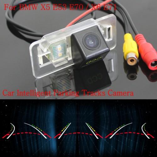 Car Intelligent Parking Tracks Camera FOR BMW X5 E53 E70 / X6 E71 / Back up Reverse Camera / Rear View Camera / HD CCD