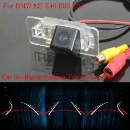 Car Intelligent Parking Tracks Camera FOR BMW M3 E46 E92 E93 / Back up Reverse Camera / Rear View Camera / HD CCD