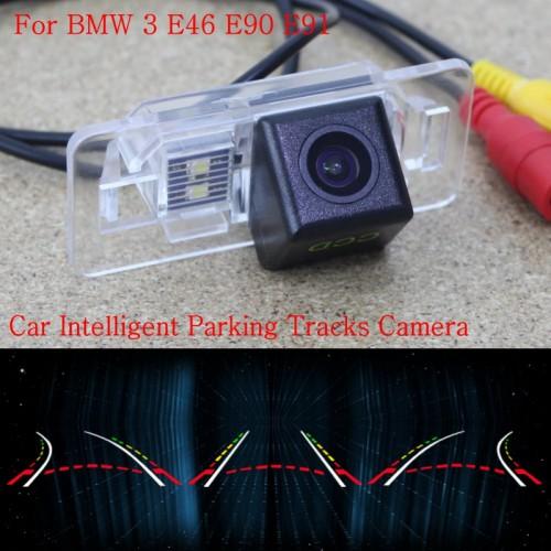 Car Intelligent Parking Tracks Camera FOR BMW 3 E46 E90 E91 / Back up Reverse Camera / Rear View Camera / HD CCD