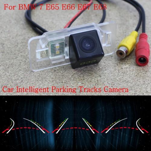 Car Intelligent Parking Tracks Camera FOR BMW 7 E65 E66 E67 E68 2001~2008 / Back up Reverse Camera / Rear View Camera / HD CCD