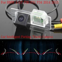 Car Intelligent Parking Tracks Camera FOR BMW 3 GT F30 F31 F34 2014 2015 / HD Back up Reverse Camera / Rear View Camera