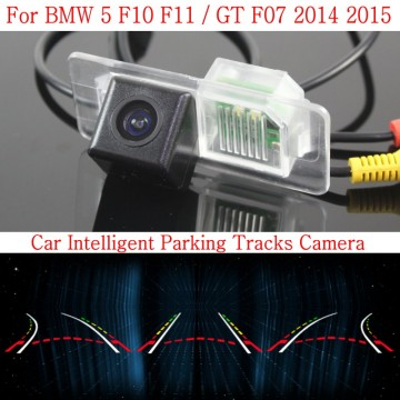 Car Intelligent Parking Tracks Camera FOR BMW 5 F10 F11 / GT F07 2014 2015 / HD Back up Reverse Camera / Rear View Camera
