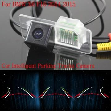 Car Intelligent Parking Tracks Camera FOR BMW X6 F16 2014 2015 / HD Back up Reverse Camera / Rear View Camera