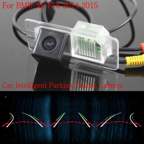 Car Intelligent Parking Tracks Camera FOR BMW X6 F16 2014 2015 / HD Back up Reverse Camera / Rear View Camera