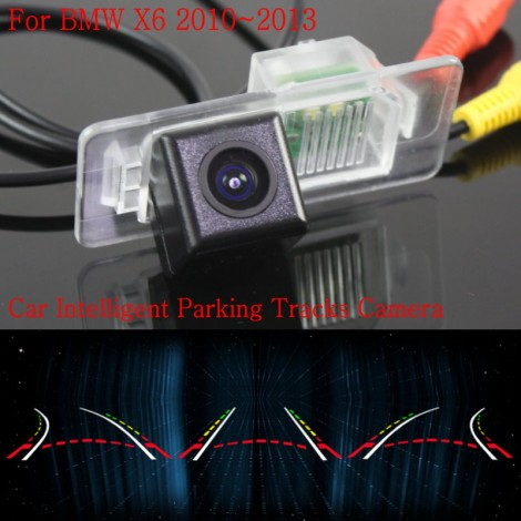 Car Intelligent Parking Tracks Camera FOR BMW X6 2010 2011 2012 2013 / HD Back up Reverse Camera / Rear View Camera