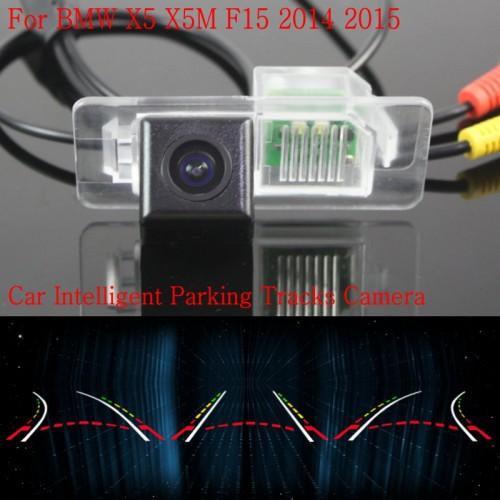 Car Intelligent Parking Tracks Camera FOR BMW X5 X5M F15 2014 2015 / HD Back up Reverse Camera / Rear View Camera