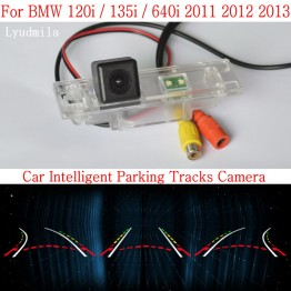Car Intelligent Parking Tracks Camera FOR BMW 120i / 135i / 640i HD CCD Night Vision Back up Reverse Camera Rear View Camera