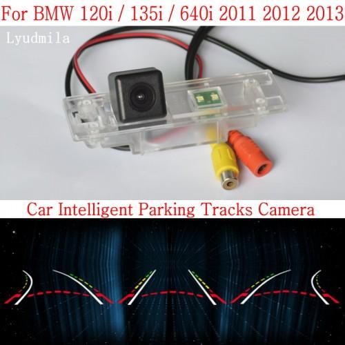 Car Intelligent Parking Tracks Camera FOR BMW 120i / 135i / 640i HD CCD Night Vision Back up Reverse Camera Rear View Camera