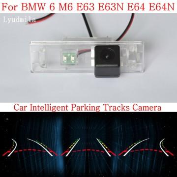 Car Intelligent Parking Tracks Camera FOR BMW 6 M6 E63 E63N E64 E64N HD CCD Night Vision Back up Reverse Camera Rear View Camera