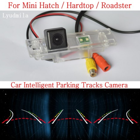 Car Intelligent Parking Tracks Camera FOR Mini Hatch / Hardtop / Roadster HD CCD CHIP Back up Reverse Camera Rear View Camera
