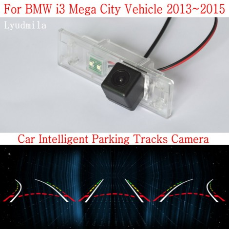 Car Intelligent Parking Tracks Camera FOR BMW i3 Mega City Vehicle HD CCD Night Vision Back up Reverse Camera Rear View Camera