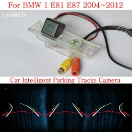 Car Intelligent Parking Tracks Camera FOR BMW 1 E81 E87 2004~2012 HD CCD Night Vision Back up Reverse Rear View Camera
