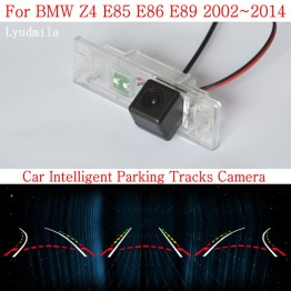 Car Intelligent Parking Tracks Camera FOR BMW Z4 E85 E86 E89 CCD Night Vision Back up Reverse Camera Rear View Camera