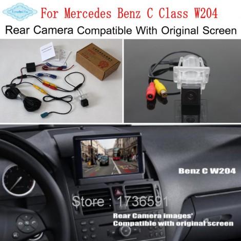 RCA & Original Screen Compatible For Mercedes Benz C Class W204 2007~2014 HD Car Rear View Back Up Reverse Camera Sets