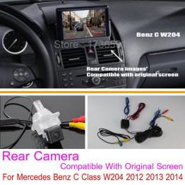 For Mercedes Benz C Class W204 2012 2013 2014 / RCA & Original Screen Compatible / Car Rear View Back Up Reverse Camera
