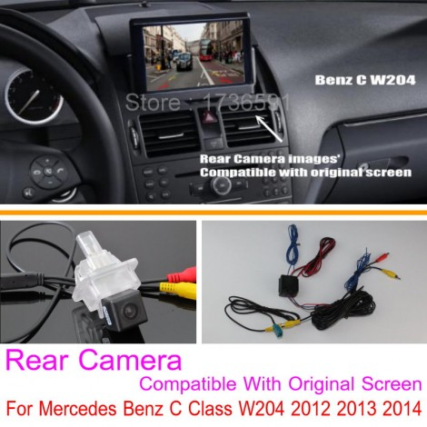 For Mercedes Benz C Class W204 2012 2013 2014 / RCA & Original Screen Compatible / Car Rear View Back Up Reverse Camera