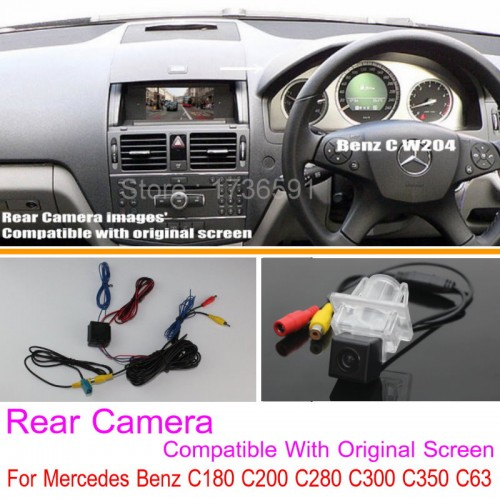 For Mercedes Benz C180 C200 C280 C300 C350 C63 AMG / RCA & Original Screen Compatible Rear View Camera / Back Up Reverse Camera