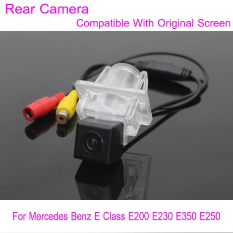 For Mercedes Benz E Class E200 E230 E350 E250 / RCA & Original Screen Compatible / Car Rear View Camera / Back Up Reverse Camera